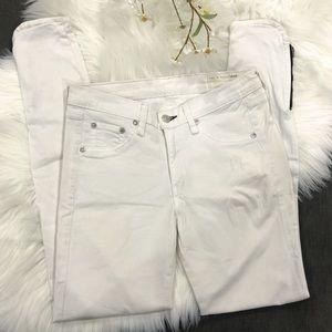 Rag & Bone Zippered Skinny Jeans